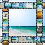 Filmremsa med härliga feriebilder Royaltyfri Fotografi