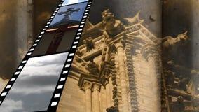 Filmremsa med olika video royaltyfri illustrationer