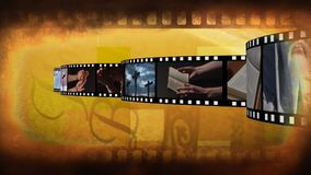 Filmremsa på religion vektor illustrationer