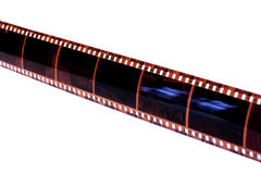 Filmremsa på white Fotografering för Bildbyråer