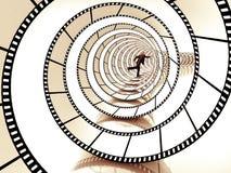 Filmremsaspiral royaltyfri fotografi