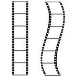 filmremsor vektor illustrationer