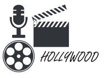Filmrolle, Filmscharnierventil, Mikrofon ikonen Vektor Abbildung