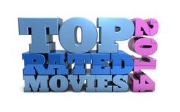 Films évalués supérieurs de 2014 Photographie stock libre de droits