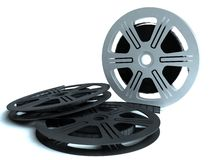 Films. HQ image of 3 films on wite bckground Stock Image