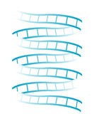Films. Blue film spiral of white background Royalty Free Illustration