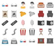Films and cinema cartoon,monochrom icons in set collection for design.Movies and Attributes vector symbol stock web. Films and cinema cartoon,monochrom icons in vector illustration