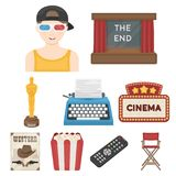 Films and cinema set icons in cartoon style. Big collection of films and cinema vector symbol stock illustration. Films and cinema set icons in cartoon style Royalty Free Stock Images