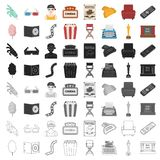Films and cinema set icons in cartoon style. Big collection films and cinema vector symbol stock illustration. Films and cinema set icons in cartoon style. Big Royalty Free Stock Photography