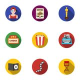 Films and cinema set icons in flat style. Big collection of films and cinema vector symbol stock illustration Royalty Free Stock Image