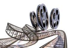 Films de roulement ! Compte à rebours de première ! illustration de vecteur