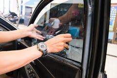 Films des véhicules à moteur de techniciens Photo stock