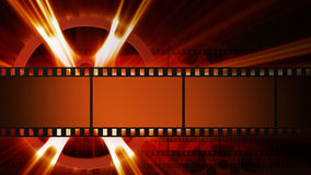 Films and film reel. With shine Royalty Free Stock Image