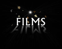 Films logo. Art work of FILMS logo vector illustration