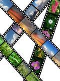 Films met diverse beelden Stock Foto's