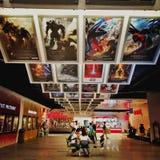 Films montrés dans le cinéma images libres de droits