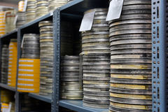 Films were stored. In the archive Royalty Free Stock Photos