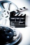 Filmscharnierventil mit Filmrollen auf Weiß Lizenzfreies Stockfoto