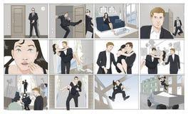 Filmschießen Storyboards Stockbild