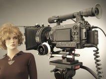 Filmschießen- und -Videoproduktion im Filmtechnikstudiosatz lizenzfreies stockfoto