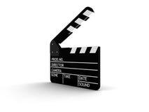 Filmschiefer getrennt auf Weiß Lizenzfreies Stockbild