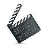 Filmset Clapper. Vector illustration of film set clapper against white Royalty Free Stock Photography