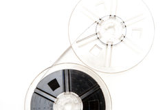 Filmspulen-Weißhintergrund der Weinlese 8mm Lizenzfreies Stockbild