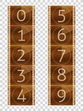 Filmstreifen Abschließender Count-down Wirkliche Farbvektorillustration Transparenter Hintergrund lizenzfreie abbildung