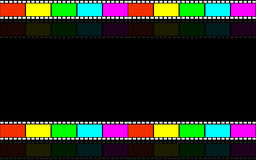 Filmstreifen. Cinematic background. Tape film. Videotape. Background for video presentations Royalty Free Stock Photography