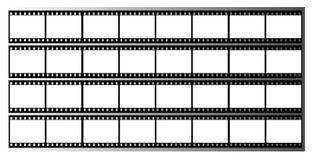 Filmstreifen gestaltet Feld Stockbild