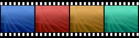 Filmstreifen mit 4 Bildern Lizenzfreie Stockfotos