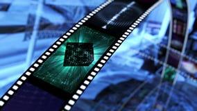 Filmstreifen mit Raum sci FI Stockbilder