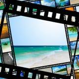 Filmstreifen mit schönen Feiertagsbildern Lizenzfreie Stockfotos