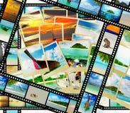 Filmstreifen mit schönen Feiertagsbildern Lizenzfreies Stockfoto