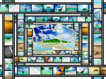 Filmstreifen mit schönen Feiertagsbildern Lizenzfreie Stockbilder
