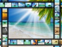 Filmstreifen mit schönen Feiertagsbildern Stockfotografie