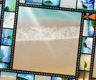 Filmstreifen mit schönen Feiertagsbildern Stockfotos
