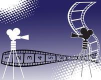 Filmstreifen mit Zahlen Stockfotografie