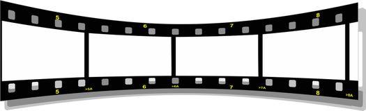 Filmstreifen-Perspektiverückseite Lizenzfreies Stockfoto
