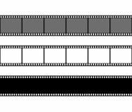 Filmstreifen-Rahmensatz in der flachen Art lokalisiert auf weißem Hintergrund Vektorbild, Abbildung Stockfotografie