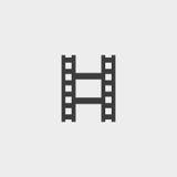 Filmstrip象,在黑色的影片象 也corel凹道例证向量 图库摄影