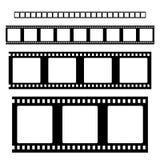 Filmstrip集合传染媒介 免版税库存图片