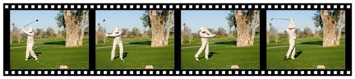 filmstrip γκολφ στοκ εικόνα