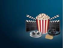 Filmstrip с винтажным билетом Стоковое фото RF