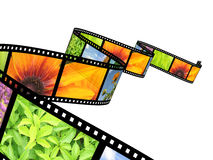 Filmstrip. Background - 3d abstract photographic film Stock Images