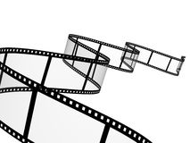 Filmstrip. 3d abstract photographic film. Object over white Stock Image