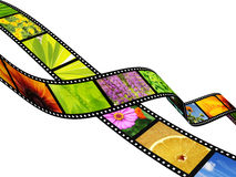 Filmstrip. Background - 3d abstract photographic film Royalty Free Stock Photos