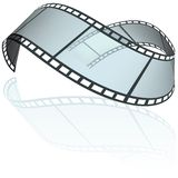 Filmstrip. E - colored illustration as vector Royalty Free Stock Photography