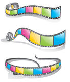 Filmstrip. Three version filmstrip pattern design Royalty Free Stock Images