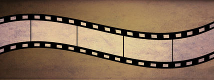 Filmstrip. Antique grunge style filmstrip banner Royalty Free Stock Image